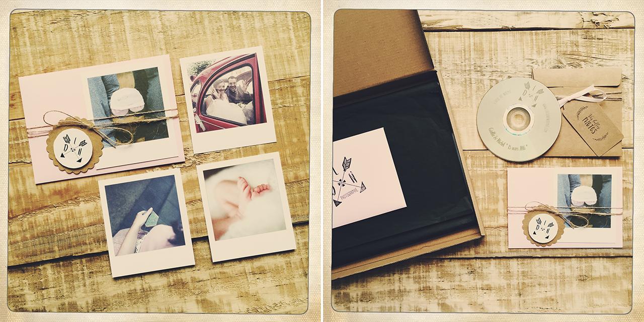 """Quelques photos façon """"pola"""", un DVD personnalisé, ces petites choses pour d'énormes souvenirs ! © L'oeil de Noémie - Art Wedding Photographer - Auvergne - France"""