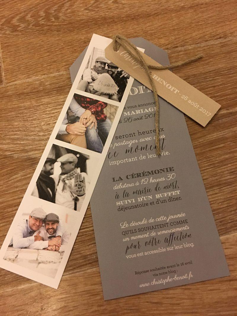 faire part de mariage par L'oeil de Noémie, photographe de mariage La Rochelle Poitou Charentes