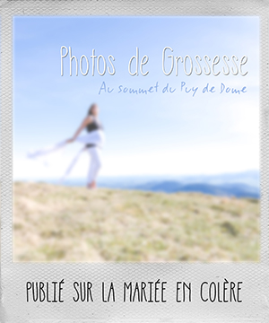 Belle photo de grossesse en haut du puy de dome