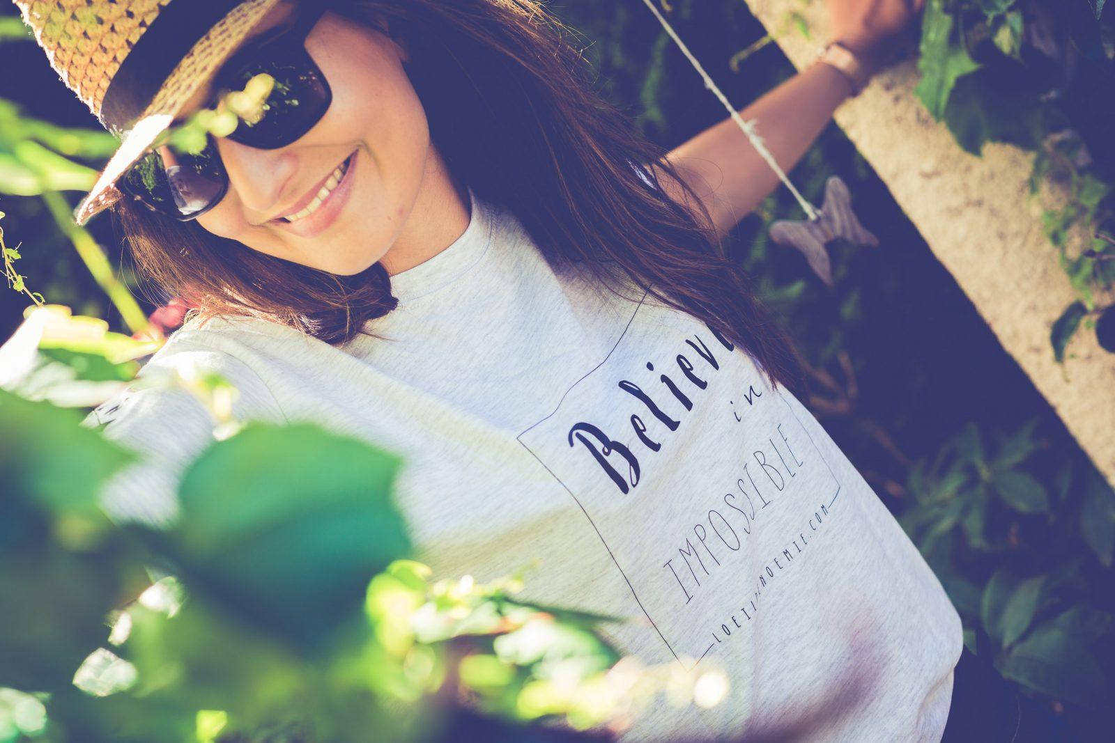 tee-shirt personnalisé, phrase positive, tee-shirt phrase, par L'oeil de Noémie, photographe de mariage incontournable en Auvergne et partout en France