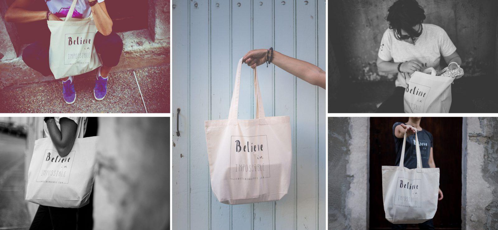 sac en coton organique par L'oeil de Noémie, photographe de mariage et d'artistes de la scène en Auvergne, et partout en Europe.