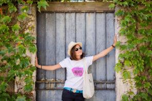 T-shirt blanc, mixte, never give up, par L'oeil de Noémie, photographe mariage, famille, concerts et entreprise, à Vichy en Auvergne.