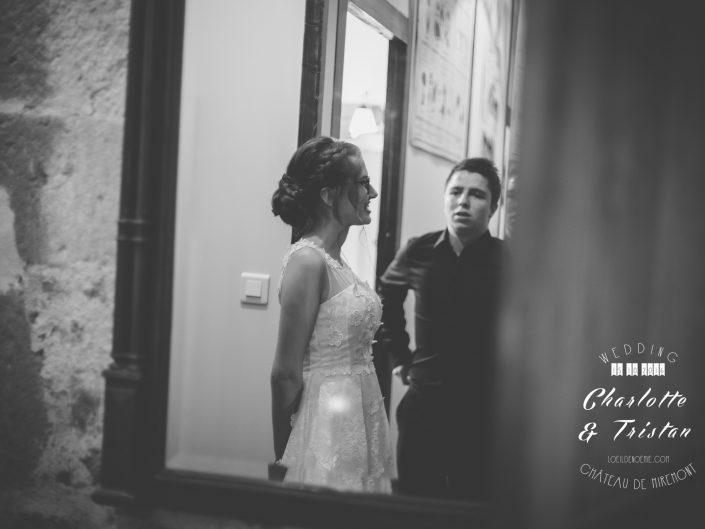 belle photo de mariage, château de Miremont, Auvergne, L'oeil de Noémie photographe à Vichy, en Europe