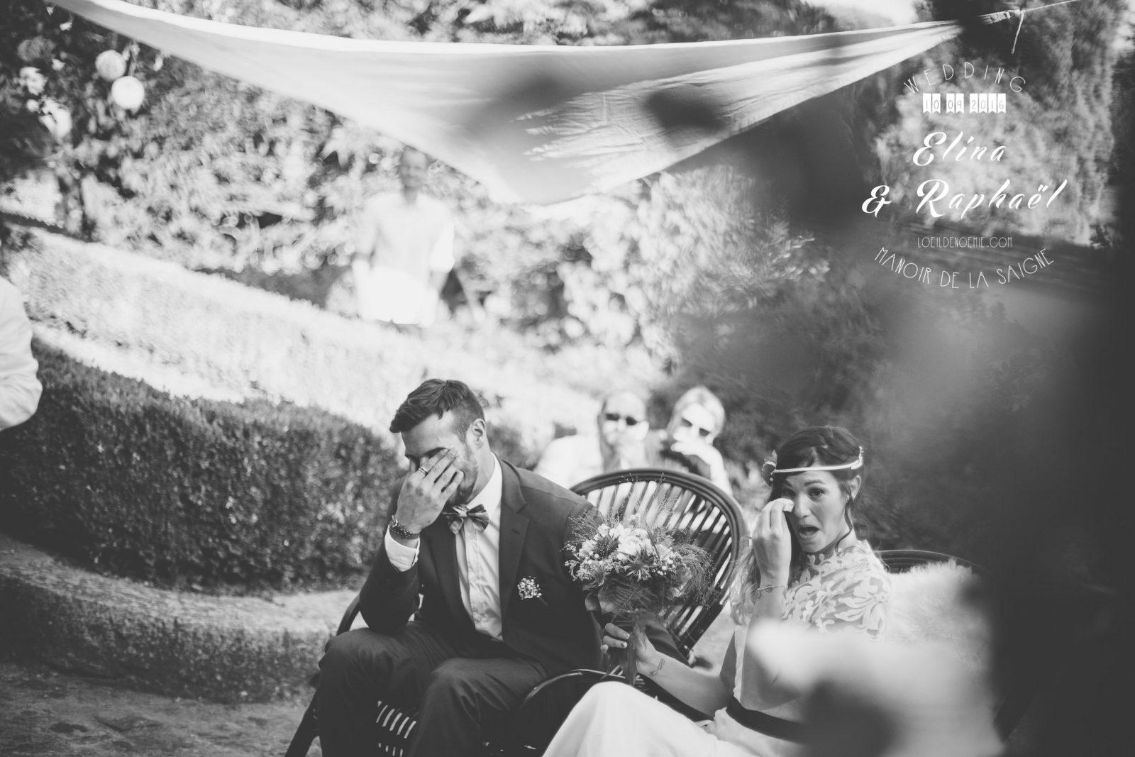 photo cérémonie laïque de mariage, manoir de la saigne, par L'oeil de Noémie photographe à Vichy en Auvergne et partout en France