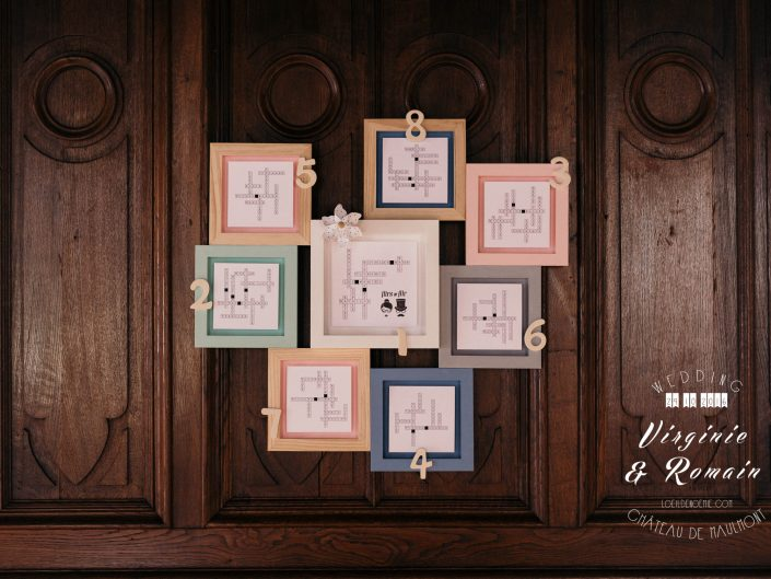 plan de table fun de mariage, photo artistique décoration de table de mariage, château de Maulmont, par L'oeil de Noémie photographe mariage vichy en Auvergne et partout en France