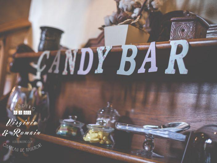 candy bar, mariage, photo artistique décoration de table de mariage, château de Maulmont, par L'oeil de Noémie photographe mariage vichy en Auvergne et partout en France