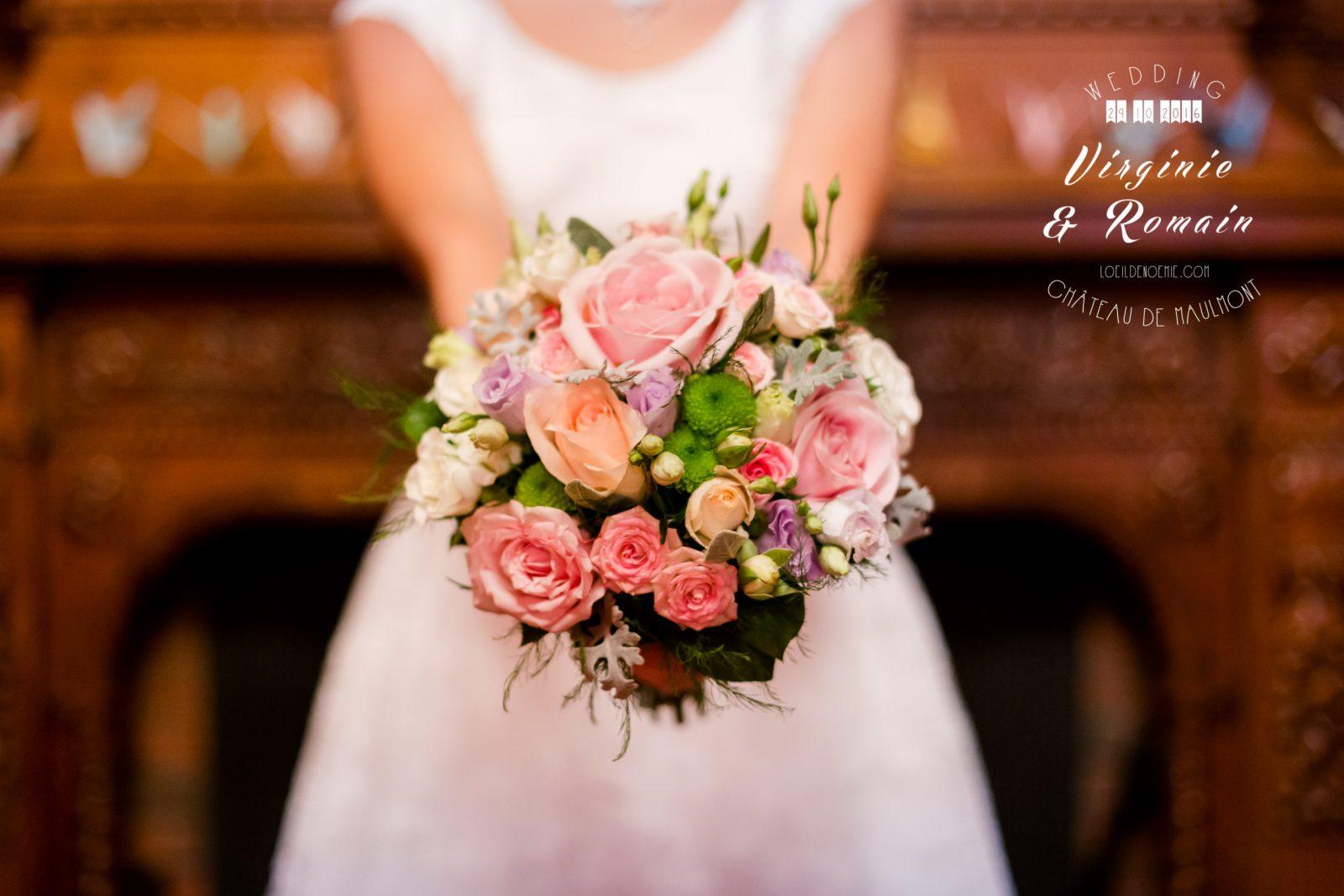 photo artistique bouquet de la mariée, oui je le veux, par L'oeil de Noémie photographe mariage clermont-ferrand en Auvergne