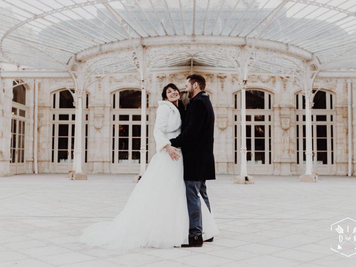 photo de couple mariage, Opéra Vichy Célestins, meilleur photographe mariage Auvergne et France, L'oeil de Noémie reporter photographe de mariage à Vichy dans l'Allier