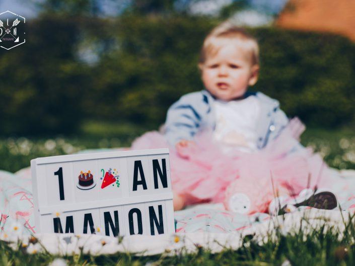 séance photos anniversaire, les 1 an de Manon. L'oeil de Noémie, photographe lifestyle basée à Vichy en Auvergne