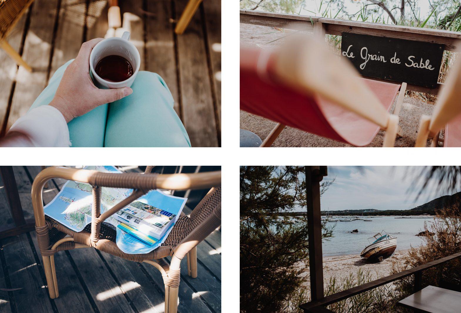 Photos & bonnes adresses Corse du Sud. Le grain de sable, village de Pinarello, Corse. L'oeil de Noémie, photographe et blogueuse voyage en Corse.