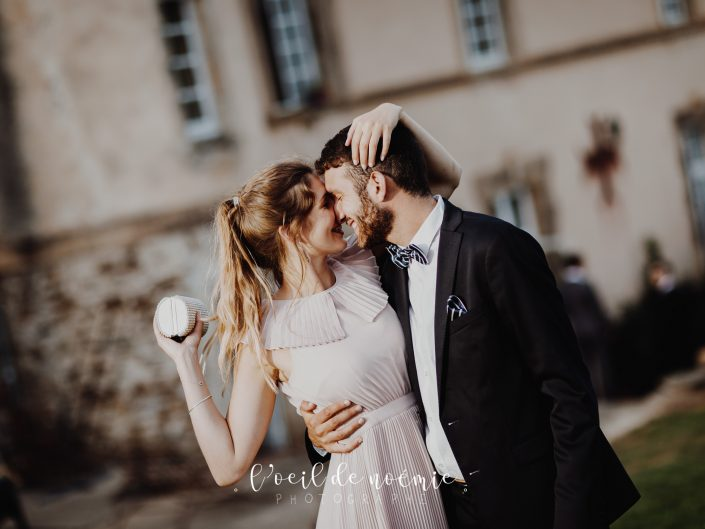 belle photo de mariage au Château de Mons, par L'oeil de Noémie reporter photographe de mariage en Auvergne