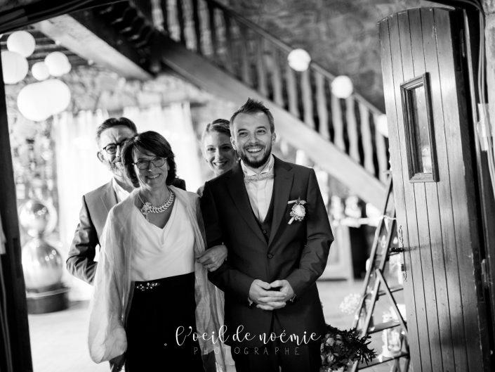 mariage domaine de rochefort, m&b, par l'oeil de noémie photographe