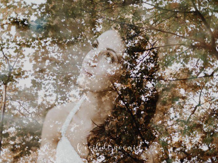 magnifique trash the dress, séance photos day after au gour de tazenat, en Auvergne. L'œil de Noémie photographe mariage Auvergne et France entière