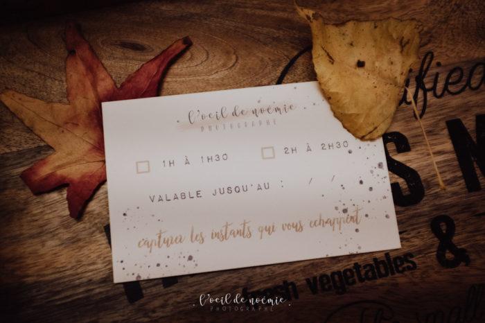 offrir une séance photo, bon cadeau avec L'oeil de Noémie, photographe à Vichy et Clermont-Ferrand en Auvergne