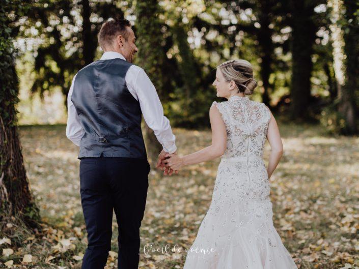 mariage cool au coeur des vignes vers Vichy en Auvergne, mariage nature et original, l'oeil de noémie meilleur photographe mariage auvergne rhone alpes