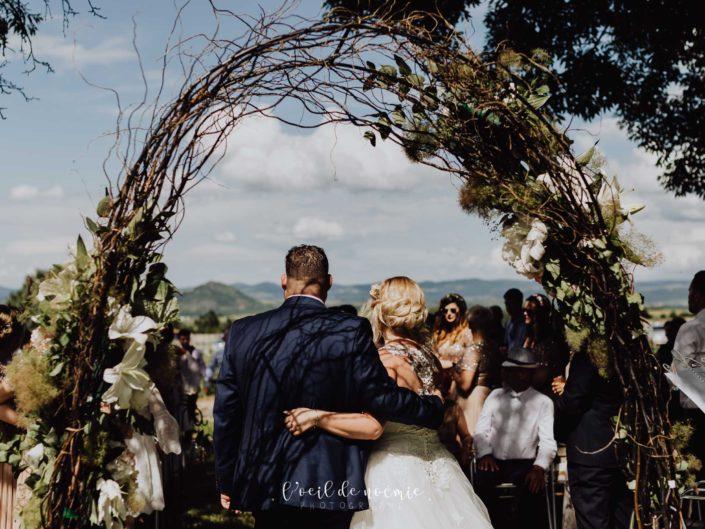 mariage vintage et coloré au clos du fort