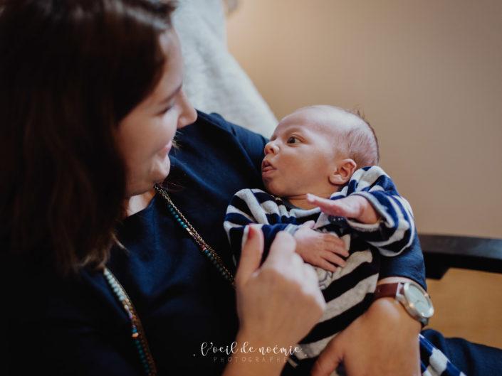 photo lifestyle bébé, belle photo naturelle nouveau-né par L'oeil de Noémie, photographe Vichy Auvergne