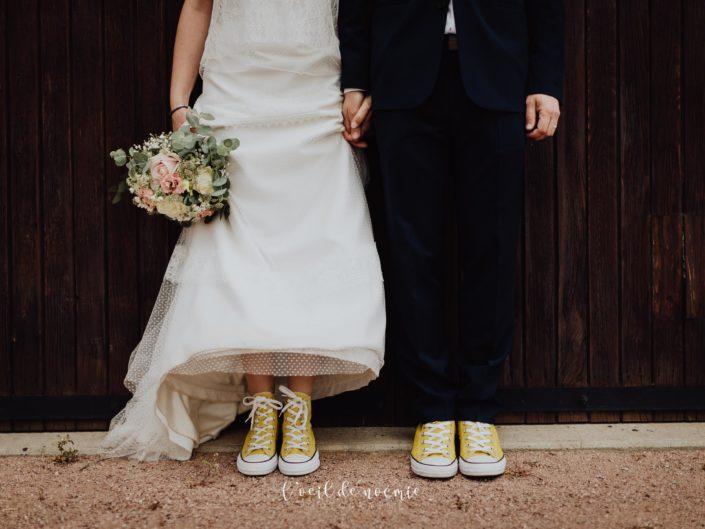 Tendance mariage : Baskets et Combi
