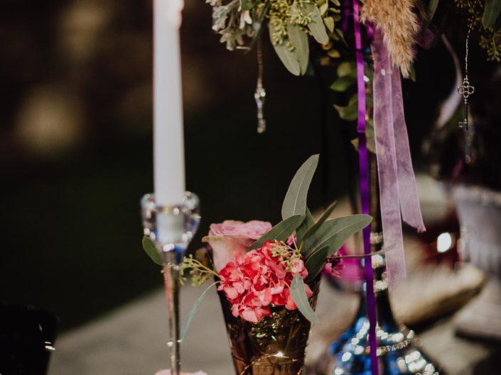 shooting inspiration mariage bohème chic et vintage, mariage avec son chien Golden retriever, meilleur photographe mariage Clermont-ferrand Auvergne Rhône Alpes